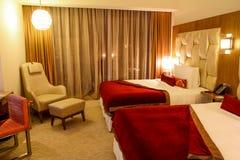 Chambre d'hôtel moderne Photographie stock libre de droits