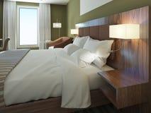 Chambre d'hôtel minimaliste Images libres de droits