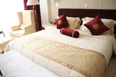 Chambre d'hôtel ou chambre à coucher Photographie stock libre de droits