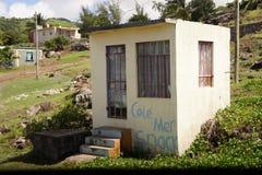 Chambre d'un riverain sur l'île de Rodriguez image stock