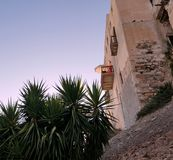 Chambre dans la citadelle vénitienne, Naxos, Grèce Images stock