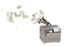 Chambre dans la machine, argent liquide de production illustration 3D Photos libres de droits