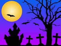 Chambre dans le cimetière illustration stock