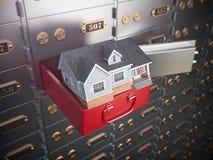 Chambre dans le compartiment de coffre-fort ouvert Sécurité ou investissement à la maison et illustration libre de droits