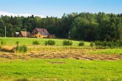 Chambre dans le domaine, village carpathien, Ukraine photographie stock