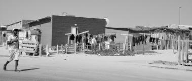 Chambre dans le taudis de Mondesa Photos libres de droits
