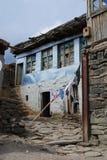 Chambre dans le village de Xinaliq en Azerbaïdjan photos libres de droits