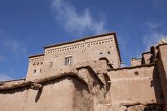 Chambre dans le village enrichi par haddou d'AIT Ben au Maroc photographie stock libre de droits
