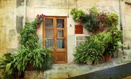Chambre dans le village Valldemossa en Majorque, Espagne Photos stock