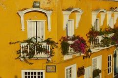 Chambre dans les rues de Carthagène Image libre de droits