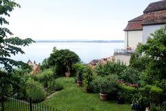 Chambre dans Meersburg avec la vue du Lac de Constance photos stock