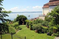 Chambre dans Meersburg avec la vue du Lac de Constance photographie stock libre de droits