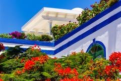Chambre dans Puerto de Mogan, mamie Canaria photographie stock libre de droits