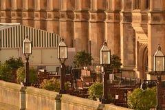Chambre de cafétéria de terrasse du Parlement Londres Image stock