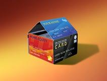Chambre de capitaux propres à la maison des cartes illustration stock