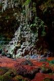 Chambre 3 de caverne de Callao avec des formations de stalactites et de stalagmites images stock