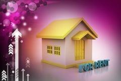 Chambre de concept d'immobiliers pour le loyer Photographie stock
