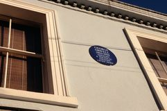 Chambre de George Orwell, Londres photos stock