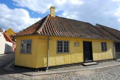 Chambre de Hans Christian Andersen à Odense, Danemark Photos libres de droits