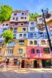 Chambre de Hundertwasser à Vienne, Autriche image stock