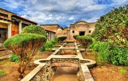 Chambre de Julia Felix à Pompeii photographie stock libre de droits