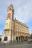Chambre de kommers i Lille, Frankrike Arkivfoton