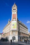 Chambre de kommers i Lille, Frankrike Royaltyfria Bilder