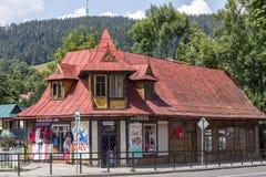 Chambre de logement en bois dans Zakopane Photographie stock