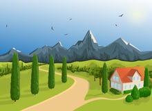 Chambre de montagne de paysage Photo stock