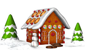 Chambre de pain d'épice Image libre de droits
