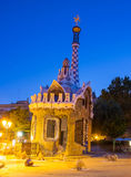 Chambre de pain d'épice de Guell de stationnement de Barcelone de Gaudi Photos stock