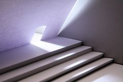 Chambre de papier avec l'escalier Photo libre de droits