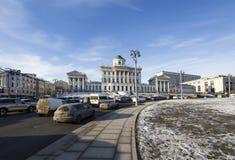 Chambre de Pashkov, manoir néoclassique près de Kremlin par Vasily Bazhenov, Moscou, Russie photo libre de droits