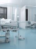Chambre de patient infectieux dans l'hôpital images libres de droits