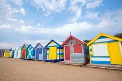 Chambre de plage colorée chez Brighton Beach, Melbourne photo stock
