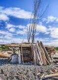 Chambre de plage faite maison Photos libres de droits