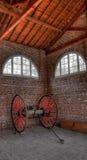 Chambre de pompe à incendie et chariot de Firehose Photo stock