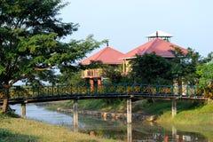 Chambre de repos en parc national de Gorumara, Inde Photo stock