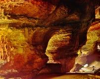 Chambre de roche en parc d'état de collines de Hocking Image libre de droits