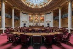Chambre de sénat du Wisconsin image stock