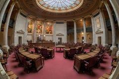 Chambre de sénat du Wisconsin images stock