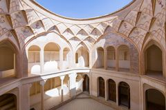 Chambre de Tabatabaei dans Kashan, Iran photo stock