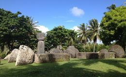 Chambre de Taga Tinian Image stock