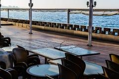 Chambre de thé vide au jour d'hiver - Turquie Photo libre de droits