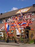 Chambre de ventilateur de football hollandais Photo libre de droits
