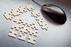 Chambre des éléments du puzzle photographie stock libre de droits