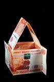 Chambre des billets de banque de rouble Photo stock