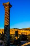 Chambre des colonnes, Volubilis Photos stock