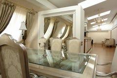 Chambre dinning de luxueux Photo libre de droits
