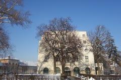 Chambre du bâtiment d'armée en ville de Brasov en Transylvanie, Roumanie Photos libres de droits